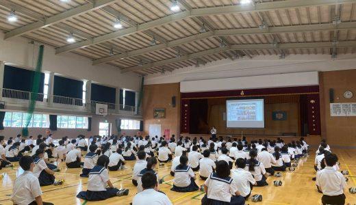当社代表相澤謙一郎が、吉野ヶ里町立東脊振中学校で講演いたしました。